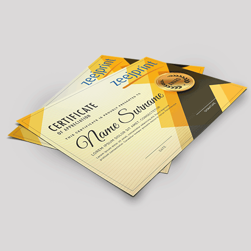 Certificates Premium Finishes - Digital