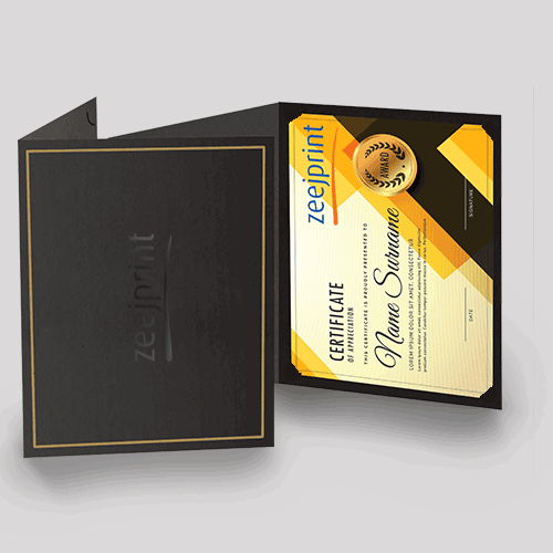Certificates Jackets Premium Finishes - Digital