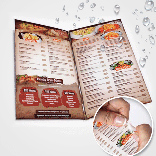 Menu Premium Material - Digital