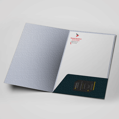 Folders Premium Material with Printed Pockets - Digital