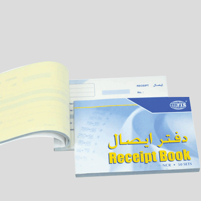 A5 Receipt Voucher Books (1+2) 4 Color