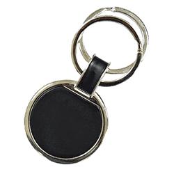 Round Keychain Black