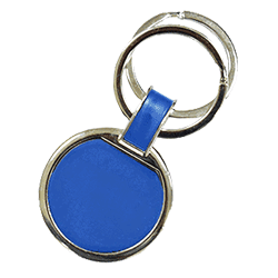 Round Keychain Blue