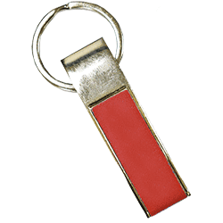Rectangle Keychain Red