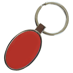 Oval Keychain Red