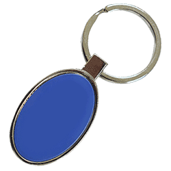 Oval Keychain Blue