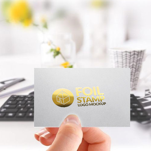 Business Cards with Gold Stamp - Digital