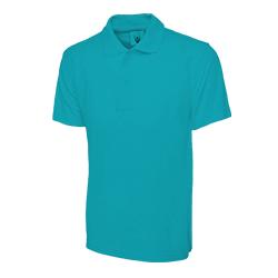 Polo Shirt Cyan Large