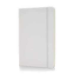 Notebook White With Elastic Band/88 Sheet Ivory Paper