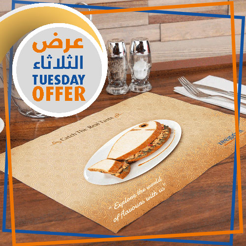 Tablemats - Tuesday Offer