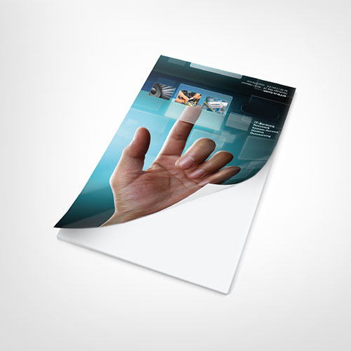 Notepad Plain Pages with Printed Cover