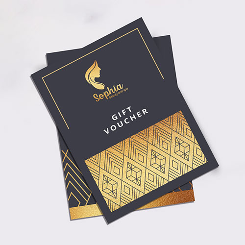 Flyers with Gold Print