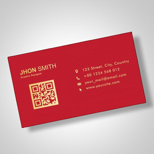 Business Card with Gold Print