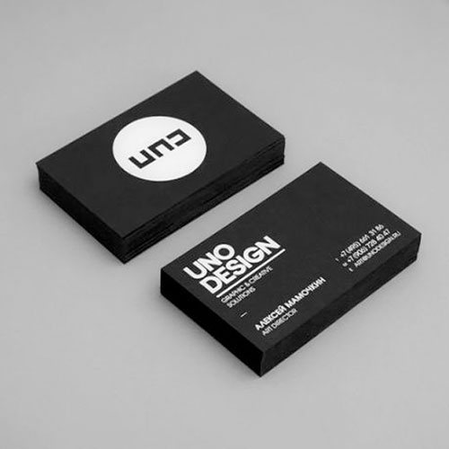 Business Card with White Print